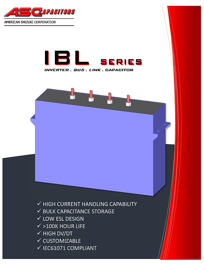 ASC IBL Series DC Filter Capacitors