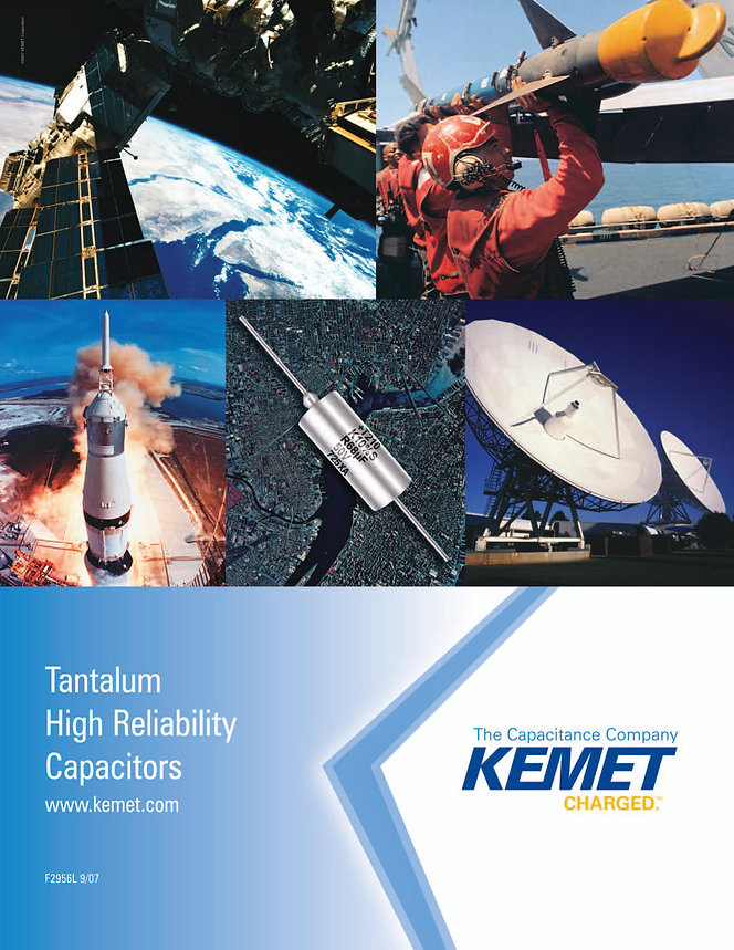 KEMET GR500 High Reliability Tantalum Capacitors