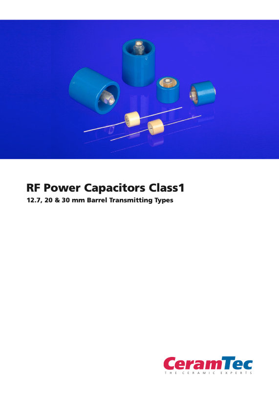 CeramTec RF Power Barrel Type Ceramic Capacitors