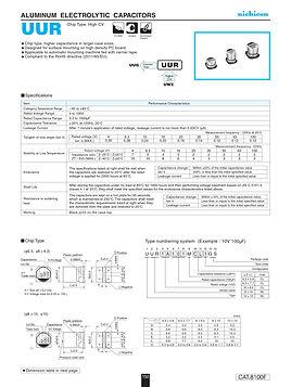 Nichicon UUR Series Aluminum Capacitors
