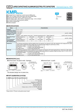 Nippon Chemi Con KMR Series Aluminum Capacitors