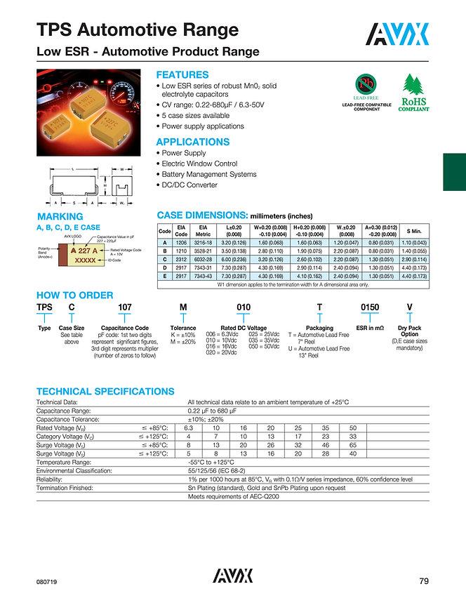 AVX TPS Series Automotive Grade Tantalum Capacitors