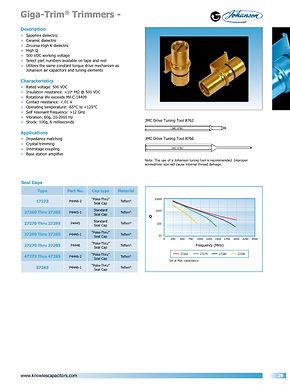 Johanson Manufacturing Giga Trim Trimmer Capacitors