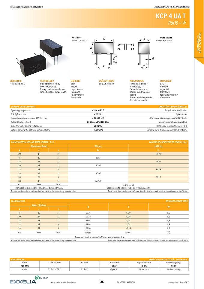Exxelia KCP 4 UA T Series Film Capacitors