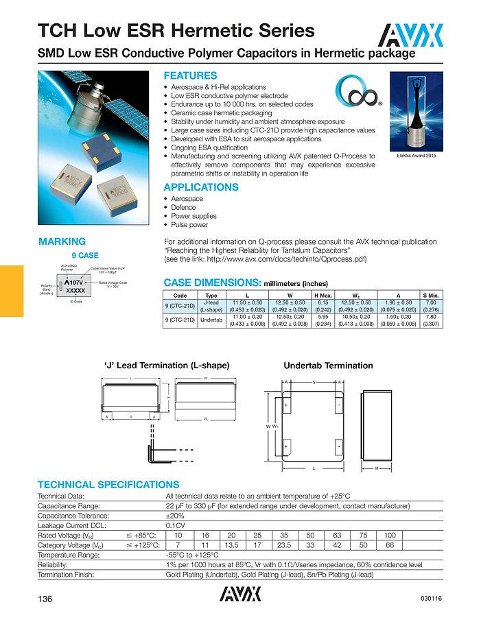 AVX TCH Series Tantalum Polymer Capacitors