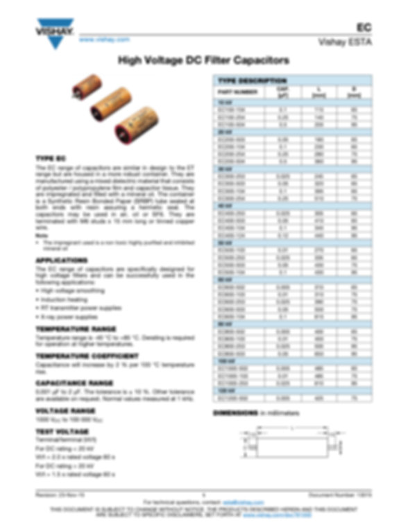 Vishay EC Series Film Capacitors