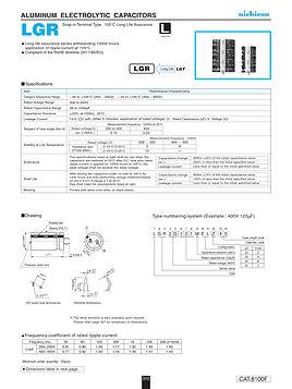 Nichicon LGR Series Aluminum Capacitors