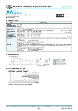 Nippon Chemi Con AWJ Series Aluminum Capacitors