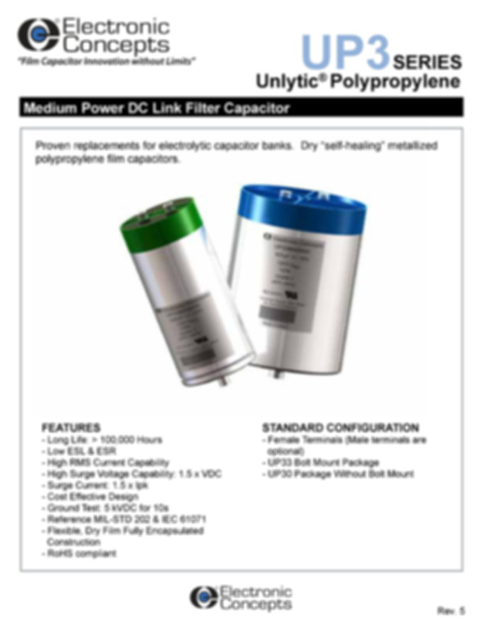 Electronic Concepts UP3 Series DC Link Capacitors