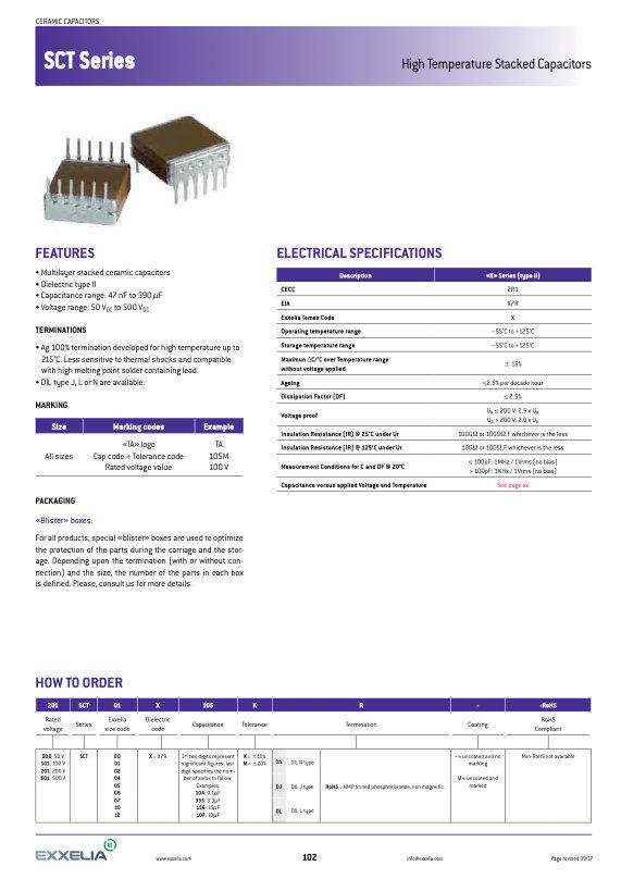 Exxelia SCT Series MLC Capacitors