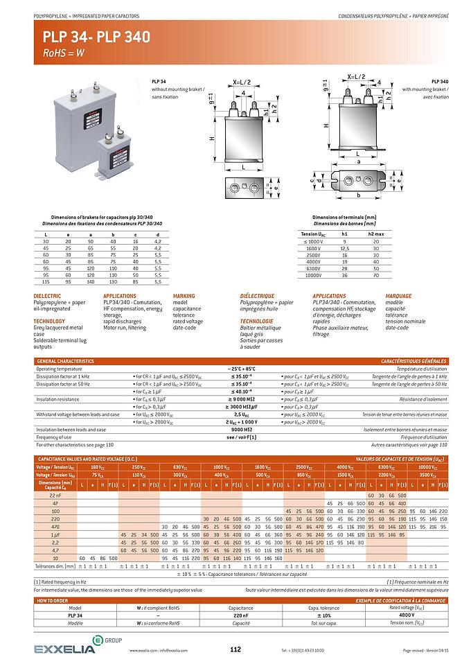 Exxelia PLP-34 Series Film Capacitors