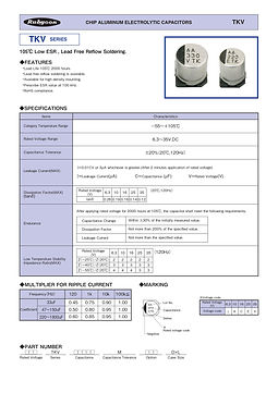 Rubycon TKV Series SMT Aluminum Electrolytic Capacitors