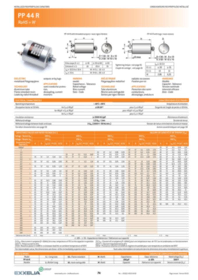 Exxelia PP 44R Series Film Capacitors