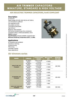 Exxelia Air Trimmer Capacitors