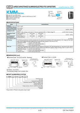 Nippon Chemi Con KMM Series Aluminum Electrolytic Capacitors