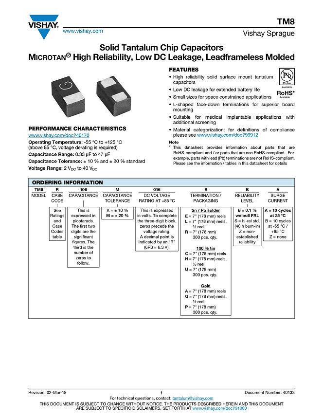 Vishay TM8 Series Tantalum Capacitors