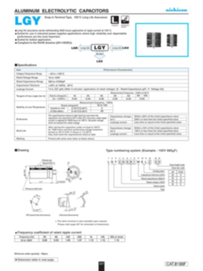 Nichicon LGY Series Aluminum Capacitors