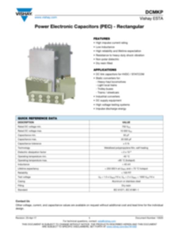 Vishay DCMKP Rectangular Series Film Capacitors