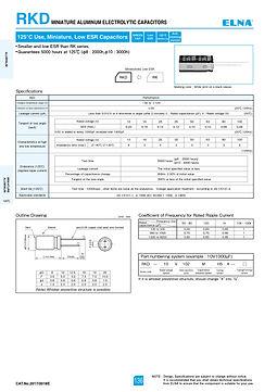 Elna RKD Series Aluminum Electrolytic Capacitors