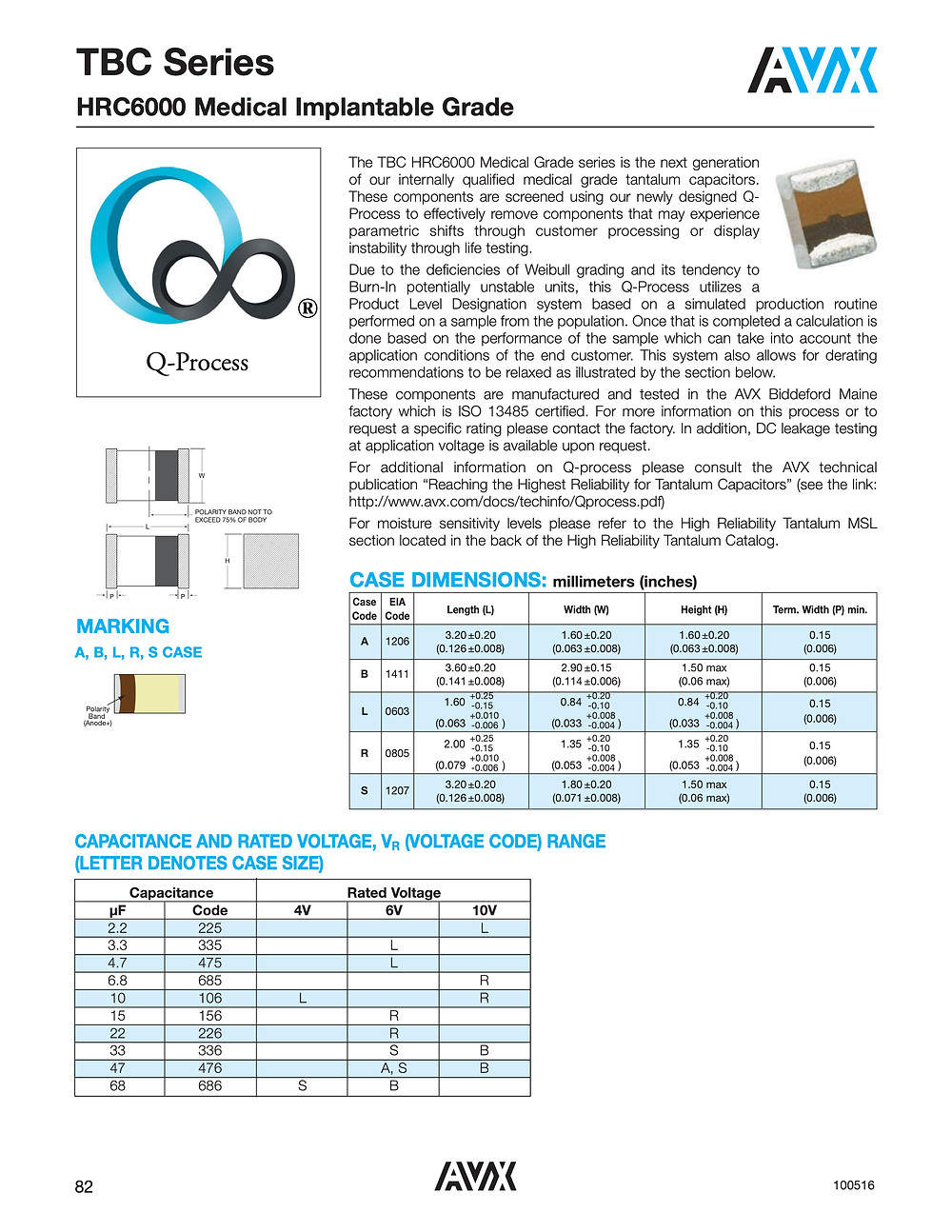 AVX TBC HRC6000 Series Capacitor