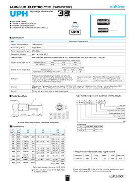 Nichicon UPH Series Aluminum Capacitors