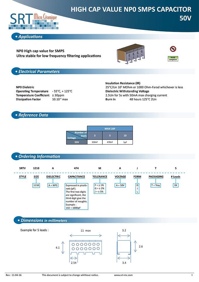 SRT Microceramique NPO Turbocap Series