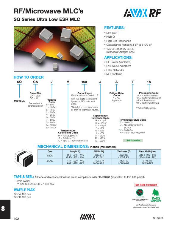 AVX SQCA - SQCB Series