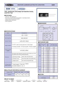 Rubycon SAW Series Radial Aluminum Electrolytic Capacitors