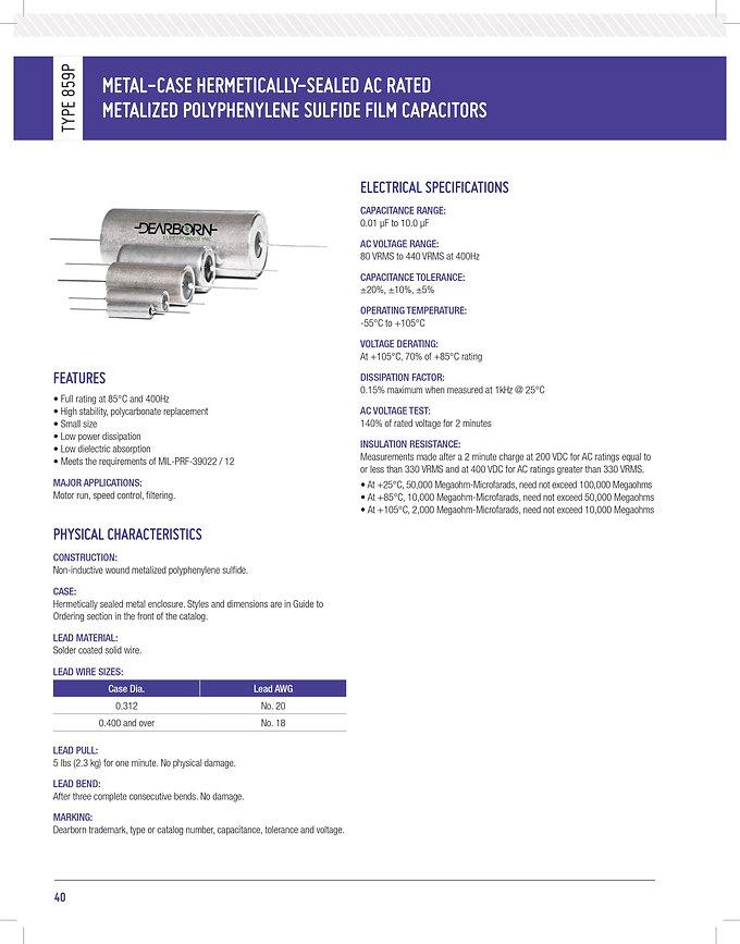 Exxelia 859P Series Plastic Film Capacitors