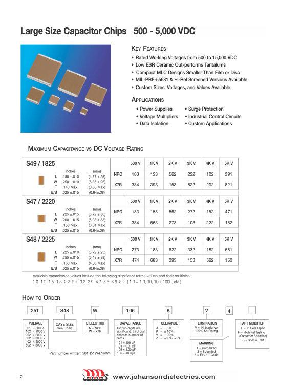 JDI Large Size Multilayer Ceramic Chip Capacitors