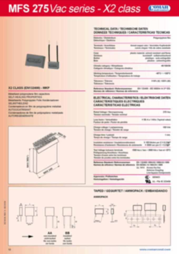 Comar Interference Suppression Capacitors