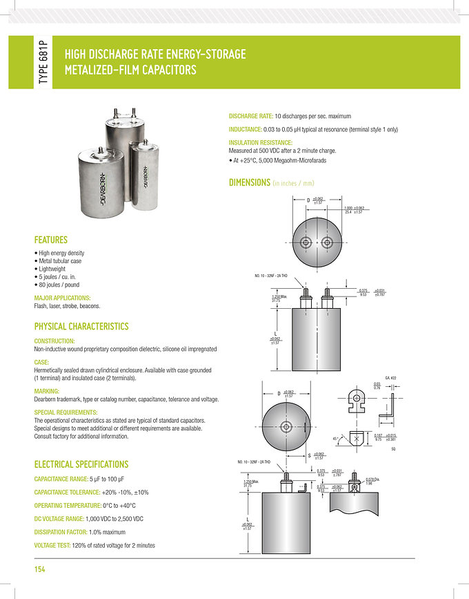 Exxelia 681P Series Plastic Film Capacitor