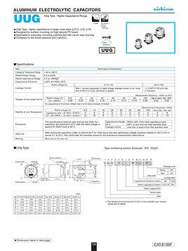 Nichicon UUG Series Aluminum Capacitors
