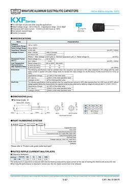 Nippon Chemi Con KXF Series Aluminum Electrolytic Capacitors