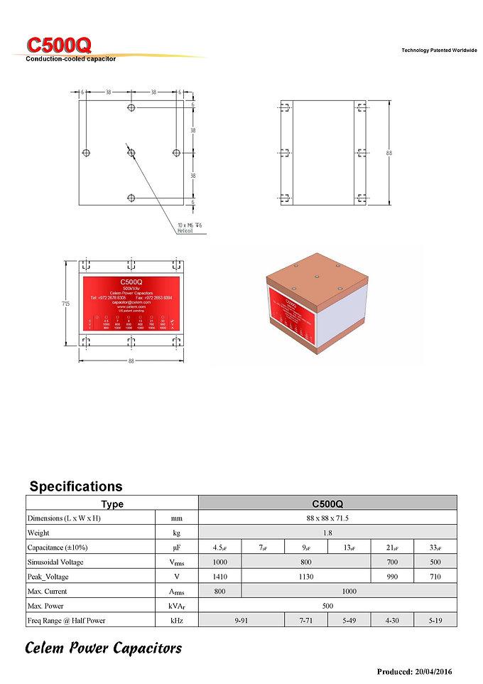 Celem  C500Q Series Film Capacitors