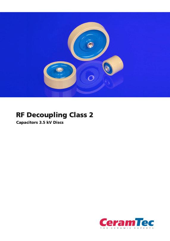 CeramTec RF Decoupling Type 2 Ceramic Capacitors