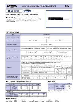 Rubycon TXW Series Radial Aluminum Electrolytic Capacitors