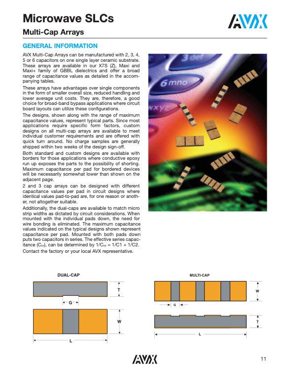 AVX GHB/GH Series SLC Capacitor Arrays