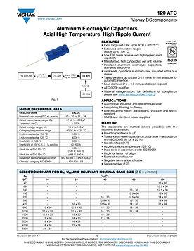 Vishay 120 ATC Series Aluminum Electrolytic Capacitors
