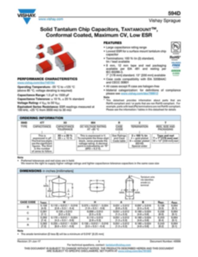 Vishay 594D Series Tantalum Capacitors