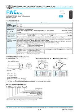 Nippon Chemi Con RWE Series Aluminum Electrolytic Capacitors