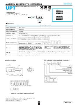Nichicon UPT Series Aluminum Capacitors