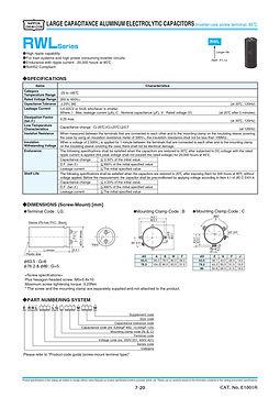 Nippon Chemi Con RWL Series Aluminum Electrolytic Capacitors