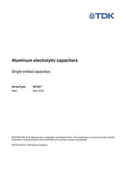 Epcos B41897 Series Aluminum Capacitors