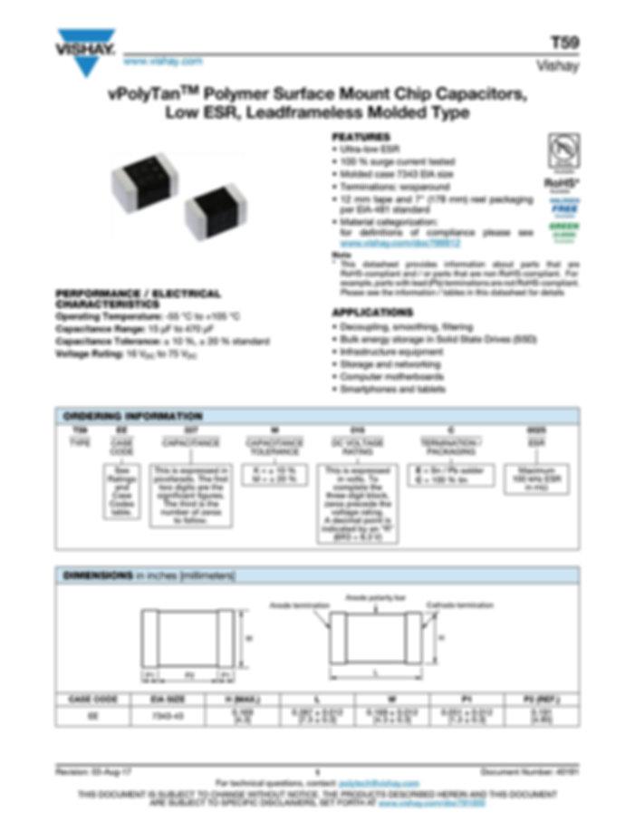 Vishay T59 Series Tantalum Capacitors