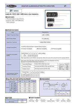 Rubycon ZT Series Radial Aluminum Electrolytic Capacitors