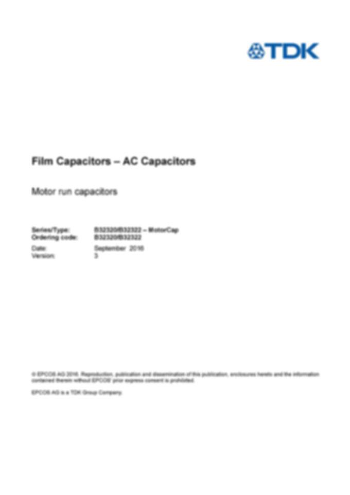 Epcos B32320 Series Film Capacitors