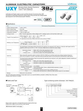 Nichicon UXY Series Aluminum Electrolytic Capacitors
