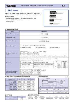 Rubycon ZLG Series Radial Aluminum Electrolytic Capacitors