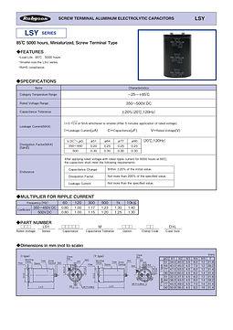 Rubycon LSY Series Screw Terminal Aluminum Electrolytic Capacitors